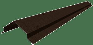 Треугольный конек для крыши из металлочерепицы