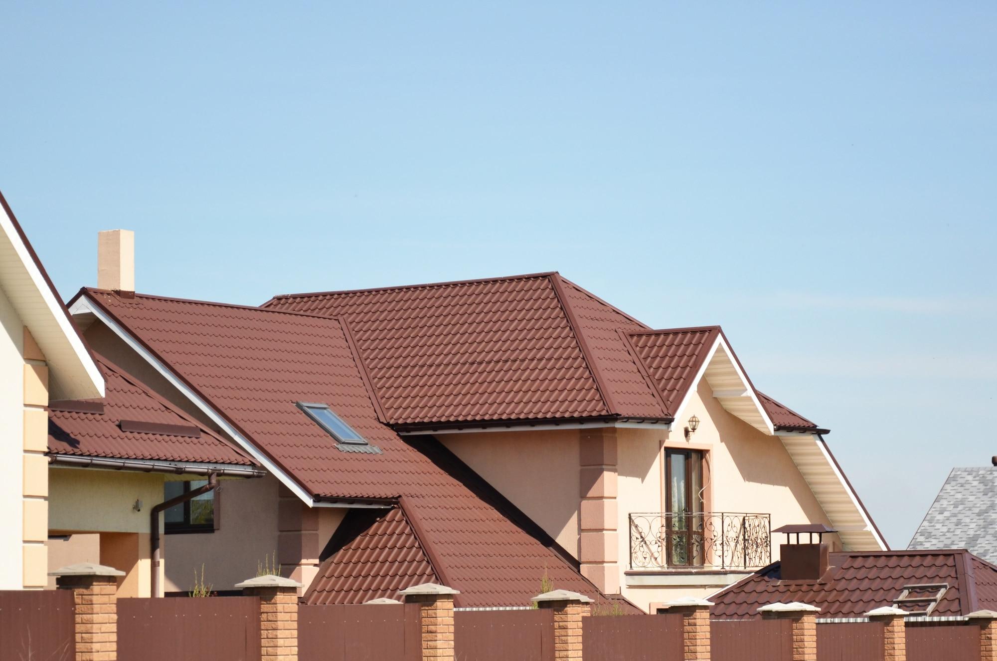 коричневый профлист крыши фото белкина одна лучших