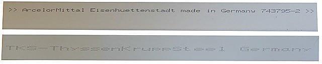 Маркування металочерепиці