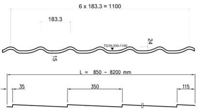 Профиль металлочерепицы монтеррей