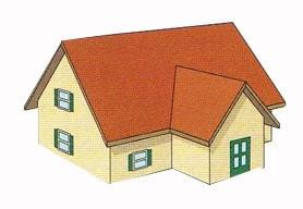 Замер двухскатной крыши