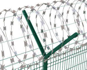 Колючая проволока - егоза - спиральный барьер безопасности