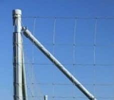 Оцинкованный столб для плетеного ограждения ДФЛ 1,0 H-3000 x 45