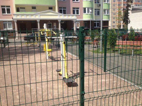 Панельный забор для спортплощадки ТЕХНА СПОРТ H-3м d 5/6