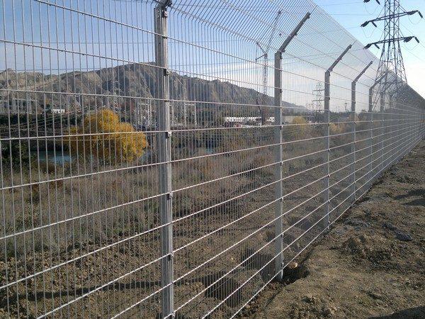 Забор секционный «Пром» h-1030мм  L=2500мм d= 5+2х6 мм