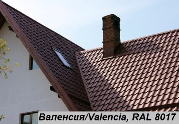 Металлочерепица Валенсия, Италия 0,5 мм, PEMA