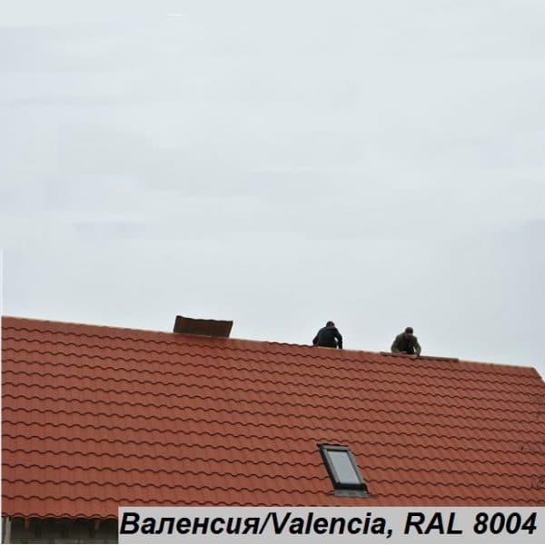 Металлочерепица Валенсия, Китай 0,43 мм, PE