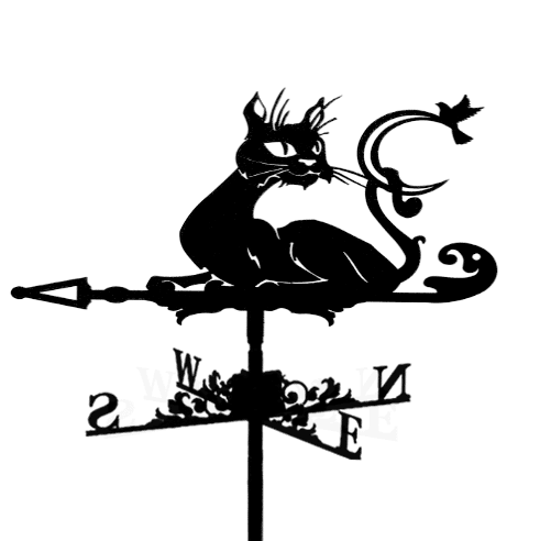 """Флюгер на крышу """"Кот хулиган"""""""