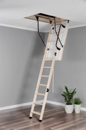 Чердачная лестница Oman TERMO PS (с поручнем)