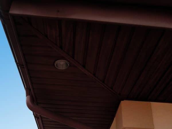 Панель соффит ASKO красное дерево,  перфорированная, 3,5 м
