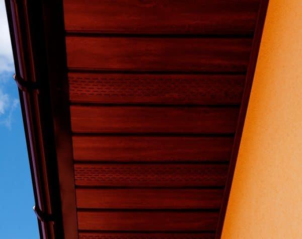 Панель соффит ASKO красное дерево тик,  неперфорированная, 3,5 м