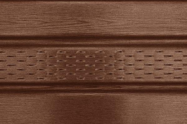 Панель соффит ASKO орех,  перфорированная, 3,5 м