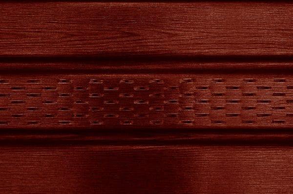Панель соффит ASKO красное дерево тик,  перфорированная, 3,5 м