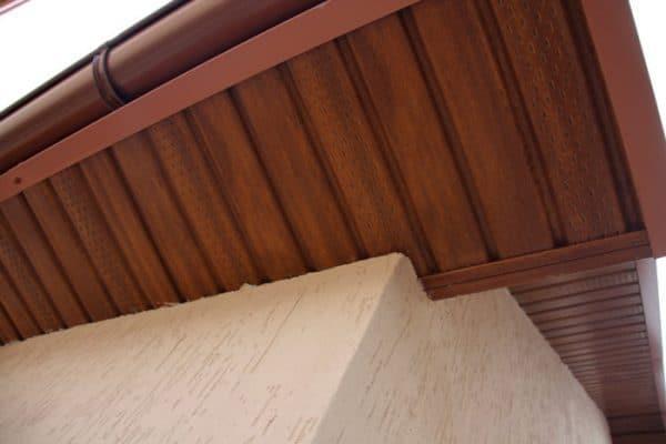 Сайдинг соффит ASKO дуб золотой, панель неперфорированная, 3,5 м