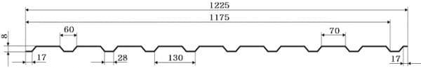 Профнастил ГП-8 PE 0,45мм, Китай