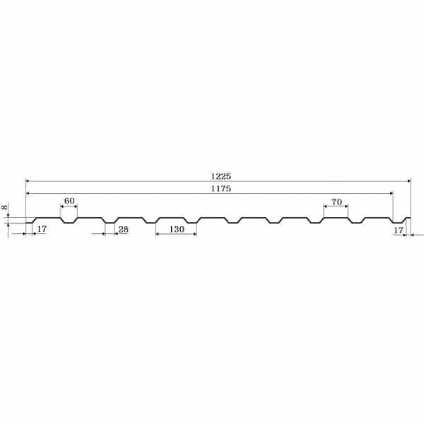 Профнастил ГП-8 Al-Zn 0,50мм, Китай