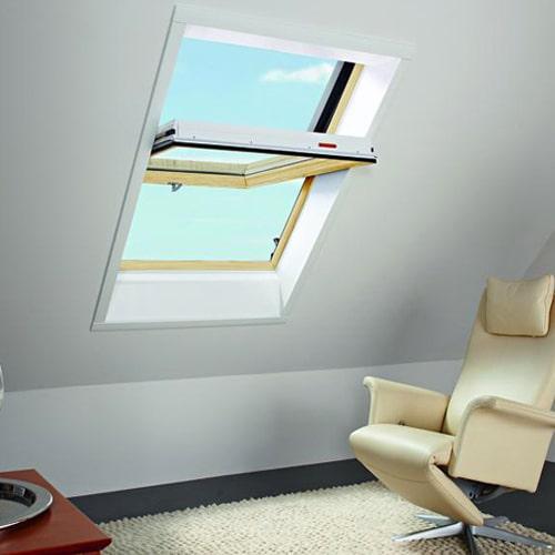 Окно в мансарду Roto R65K WD KK/KG 80×104 (ламинация под дерево)