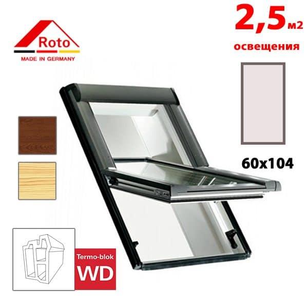 Мансардное окно Roto Designo R65K WD KK/KG 60x104