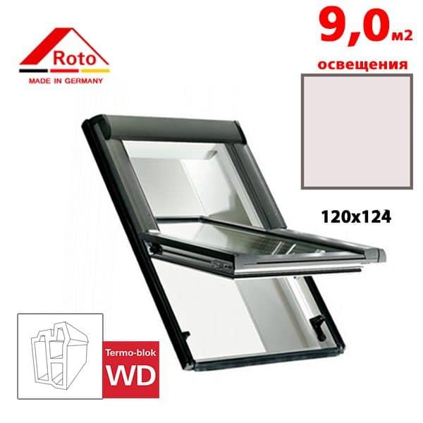 Мансардное окно Roto Designo R65 K WD 120x124