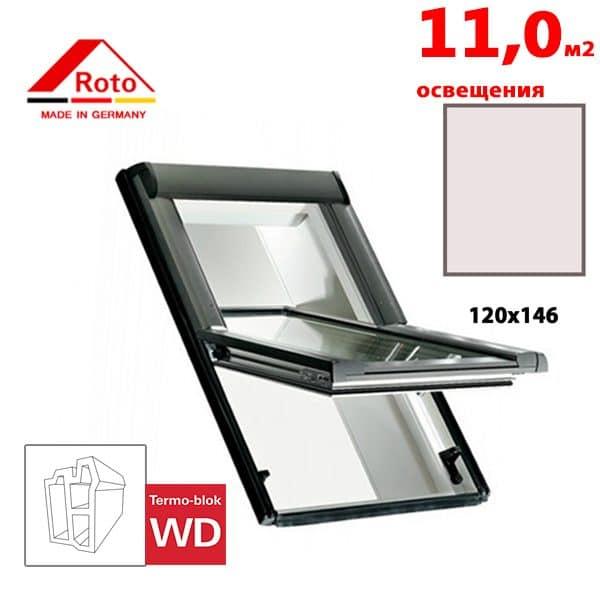 Мансардное окно Roto Designo R65 K WD 120x146