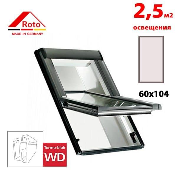 Мансардное окно Roto Designo R65 K WD 60x104