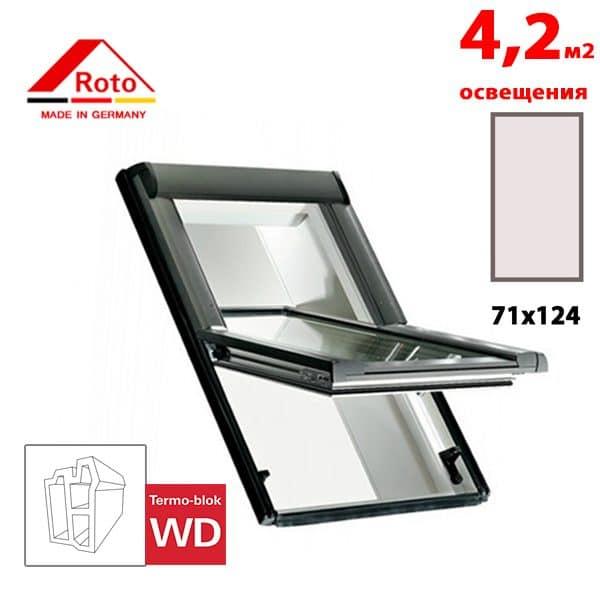 Мансардное окно Roto Designo R65 K WD 71x124