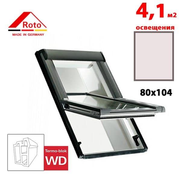 Мансардное окно Roto Designo R65 K WD 80x104