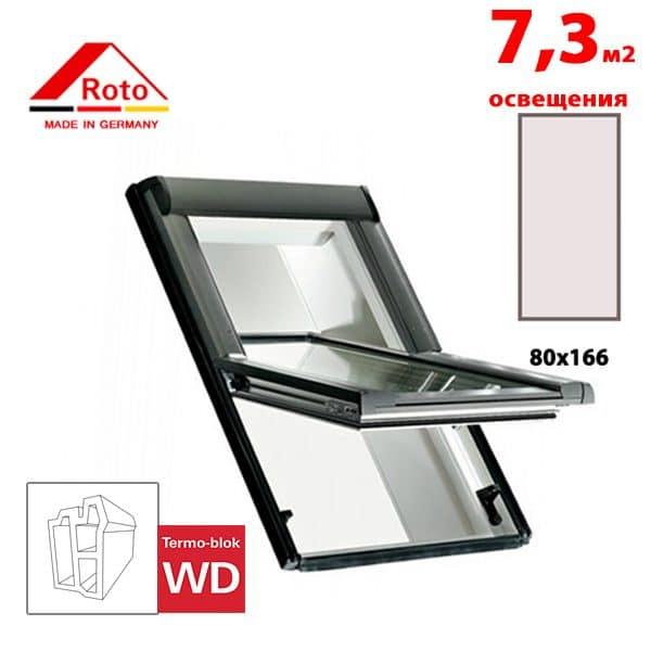 Мансардное окно Roto Designo R65 K WD 80x166