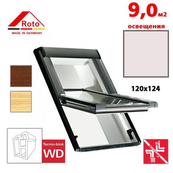 Мансардное окно Roto Designo R69G K WD KK/KG 120x124
