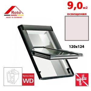Мансардное окно Roto Designo R69G K WD 120x124