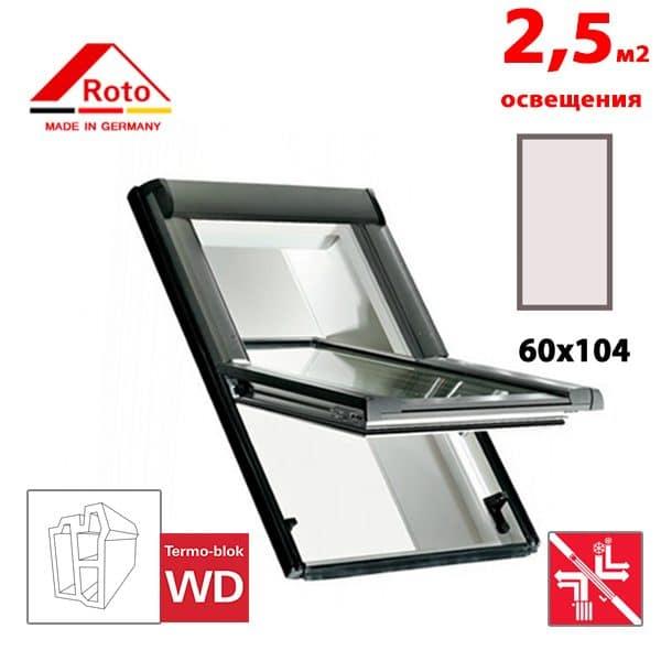 Мансардное окно Roto Designo R69G K WD 60x104
