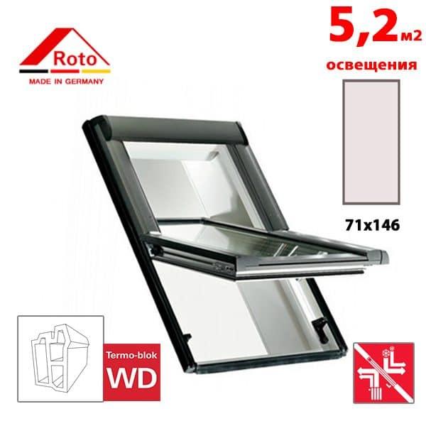Мансардное окно Roto Designo R69G K WD 71x146