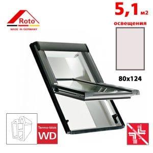 Мансардное окно Roto Designo R69G K WD 80x124