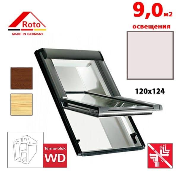 Мансардное окно Roto Designo R69P K WD KK/KG 120x124
