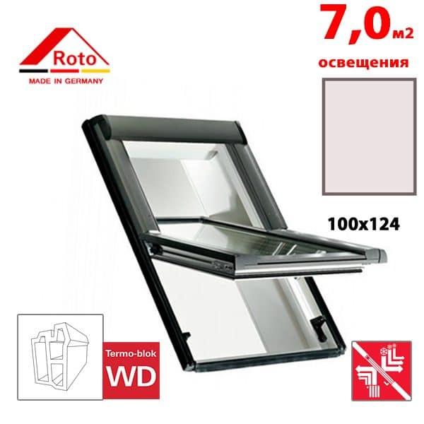 Мансардное окно Roto Designo R69P K WD 100x124