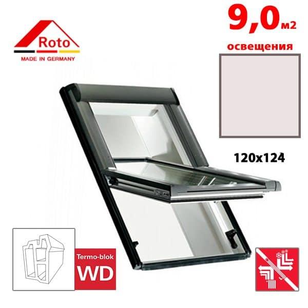 Мансардное окно Roto Designo R69P K WD 120x124