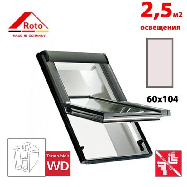 Мансардное окно Roto Designo R69P K WD 60x104