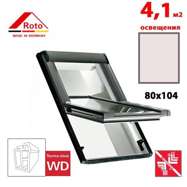 Мансардное окно Roto Designo R69P K WD 80x104