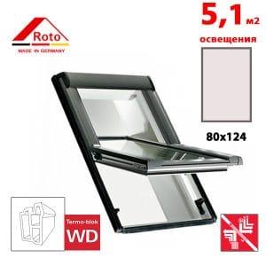 Мансардное окно Roto Designo R69P K WD 80x124