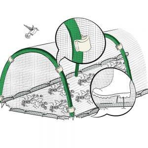 Защитная сетка от птиц ортофлекс