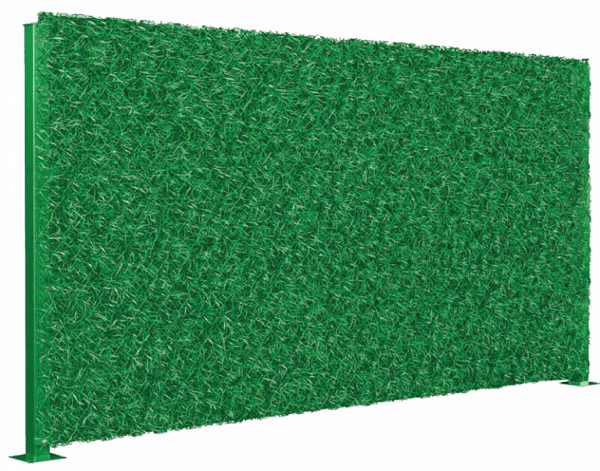 Зеленый забор DG из искуственной травы
