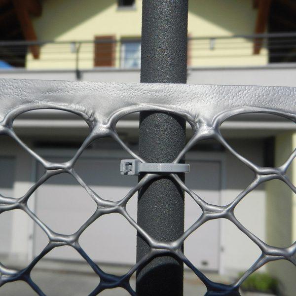 Сетка для декоративного ограждения EXAGON серебро (1х30 м.п.)