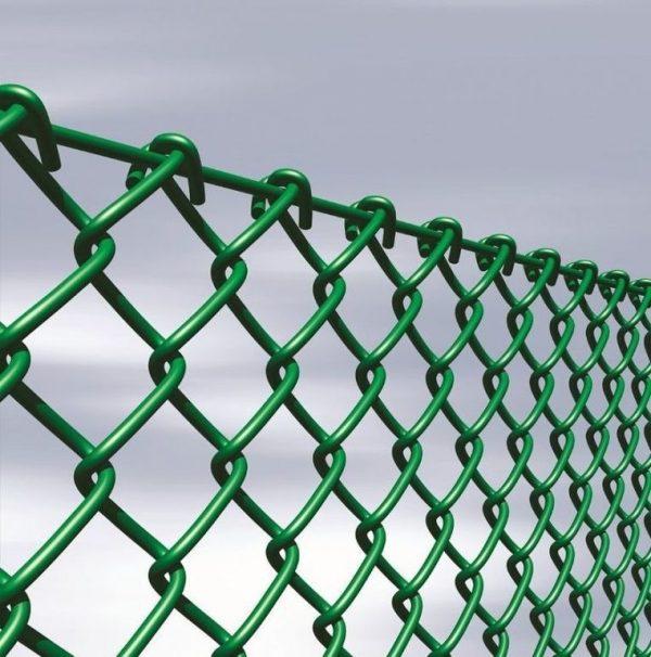 Сетка рабица (в ПВХ покрытии) яч. 35 х 35 мм / Ø 1,50 мм/ Ø 2,50 мм / h = 1,20 м
