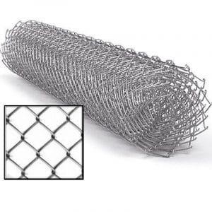 Сетка рабица (оцинковка) яч. 50 х 50 мм / Ø 2,00 мм / h = 1,50 м