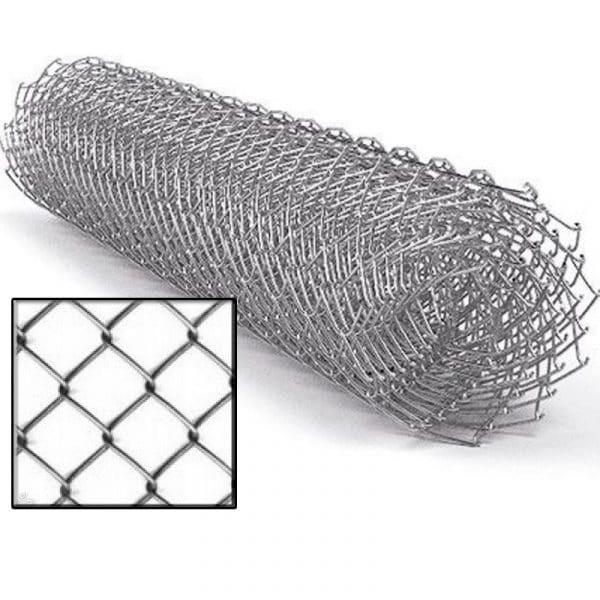 Сетка рабица (оцинковка) яч. 50 х 50 мм / Ø 1,80 мм / h = 1,20 м