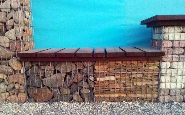 Садовые лавки из габионов 450х300 мм/ h=600 мм яч. 50х50 мм