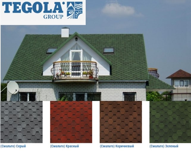 Палитра Tegola Top-Shingle