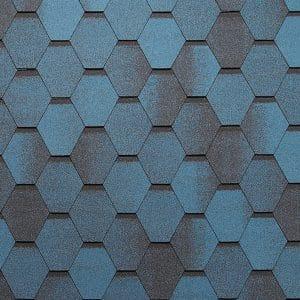 Битумная черепица Тегола Супер Мозаик (цвет- синяя ночь)