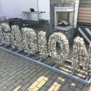 Буквы из габионов 450х170 мм/ h=850 мм яч. 50х50 мм