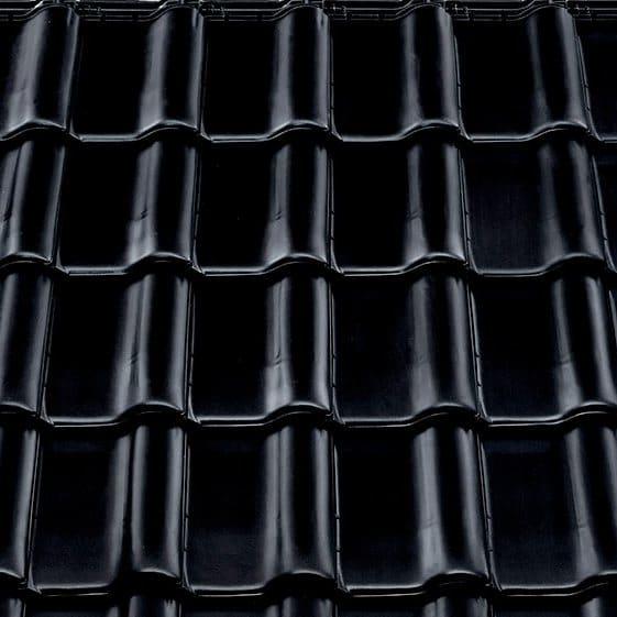 Керамическая черепица Braas Рубин 9V (покрытие- глазурь), цвета- тек/иссиня черный